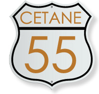 Our DME (Dimethyl ether) fuel has a cetane number of 55