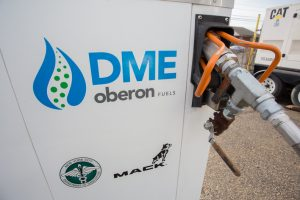 Fueling station for DME-powered Mack® Pinnacle™ demonstration at the NYC Department of Sanitation. © Ron Jautz 2017