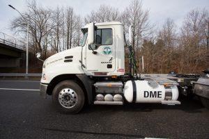 DME-powered Mack® Pinnacle™ demonstration at the NYC Department of Sanitation. © Ron Jautz 2017