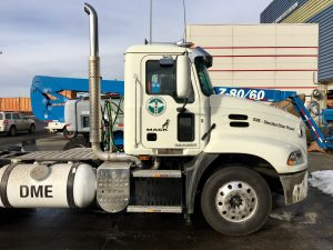 DME Powered Mack Truck